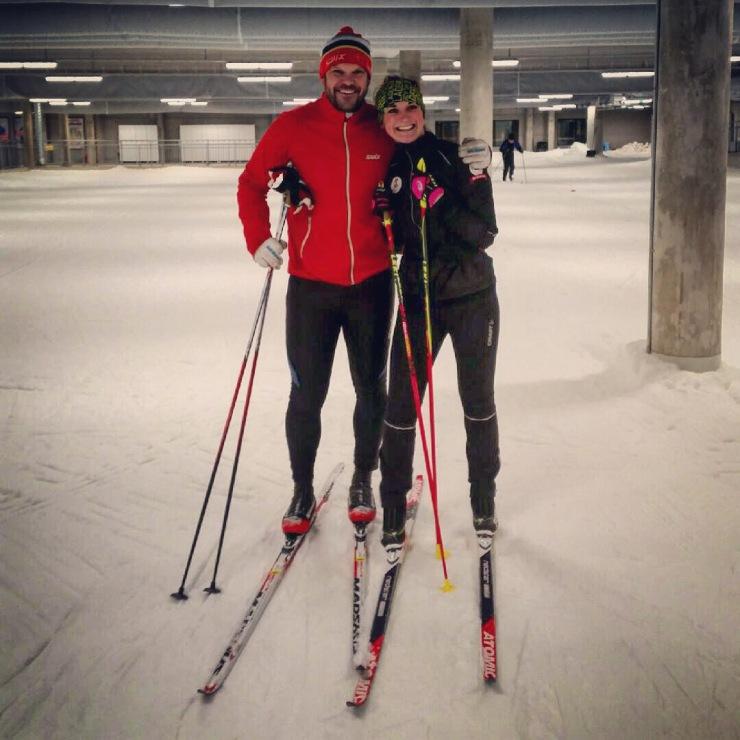 Kände det var dags att ta till lite proffshjälp av en tidigare VM- och OS-medaljör för att ta nästa kliv i skidåkningen! (: